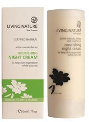 Bild von Living Nature - Nährende Nachtcreme - 50 ml