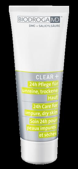 Bild von Biodroga MD - Clear+ - 24h Pflege - unreine, trockene Haut - 75 ml