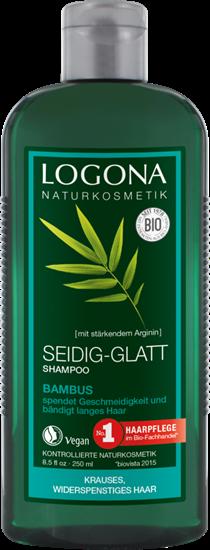 Bild von Logona - Seidig-Glatt Shampoo - Bambus - 250 ml