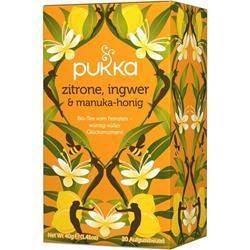 Bild von Pukka - Zitrone, Ingwer & Manuka-Honig - bio - 20 Aufgussbeutel