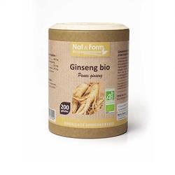 Bild von Nat & Form - Organic Red Ginseng - 200 Kapseln