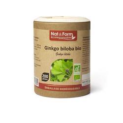 Bild von Nat & Form - Bio Ginkgo - 200 Kapseln
