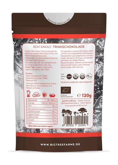 Bild von Big Tree Farms - Roh Kakao Trinkschokolade - 120 g