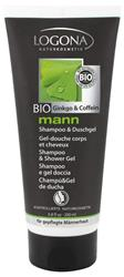 Bild von Logona - Mann - Shampoo & Duschgel - Bio Ginkgo & Coffein - 200 ml