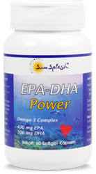 Bild von SunSplash - EPA-DHA Power - Omega-3 Complex - 60 Softgel-Kapseln