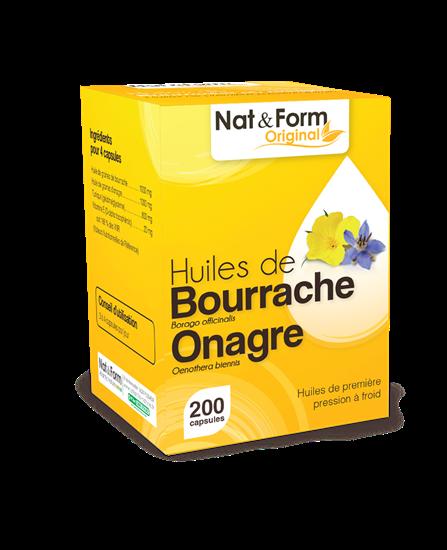 Bild von Nat & Form - Borretsch, Nachtkerze & Vitamin E - 200 Softkapseln