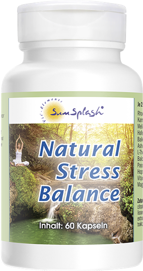 Bild von SunSplash - Natural Stress Balance - 60 Kapseln