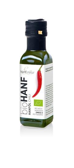 Bild von Hanf & Natur - Hanföl Chili - Bio - 100 ml