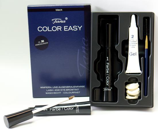 Bild von Tana Cosmetics - Color Easy Black - Wimpern- & Augenbrauenfarbe - Set