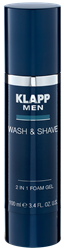 Bild von Klapp - MEN - Wash & Shave - 2 In 1 Foam Gel - 100 ml