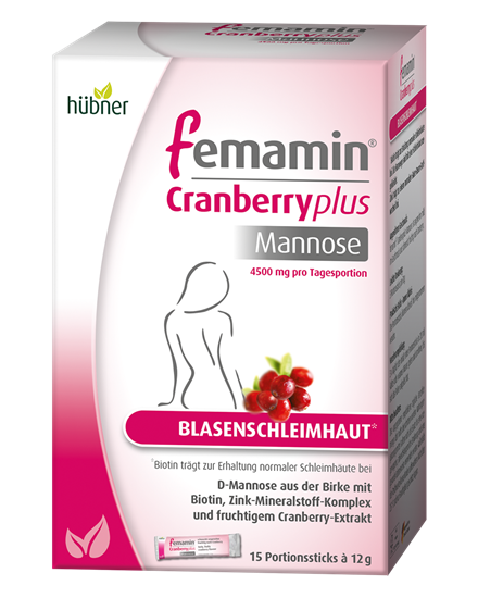 Bild von Hübner - Femamin® - Cranberry Plus - 15 Portionssticks - 180 g