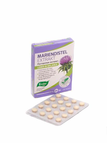 Bild von Evalar - Mariendistel Extrakt - 20 Tabletten