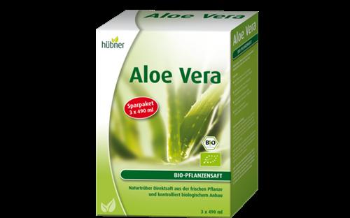 Bild von Hübner - Aloe Vera BIO-Pflanzensaft Naturtrüb - Sparpaket - 1470 ml