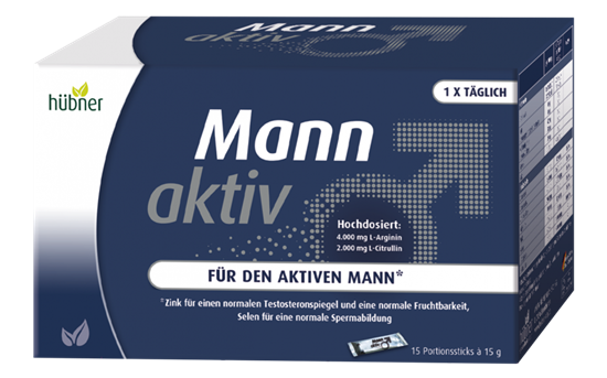 Bild von Hübner - Mann Aktiv - 15 Portionsstick à 15 g