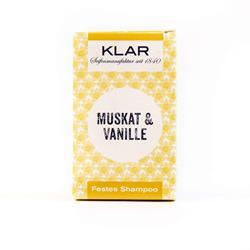 Bild von Klar Festes Shampoo - Haarseife - Vanille/Muskat - 100 g