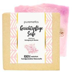Bild von puremetics - Natur-Seifen - Gesichtspflegeseife - Reinigende Gesichtpflege-Seife Wildrose - 100 g