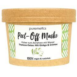 Bild von puremetics Gesichtsmasken - Peel-Off Maske - mit Ginkgo & Grüntee - vegan und plastikfrei - 65 g