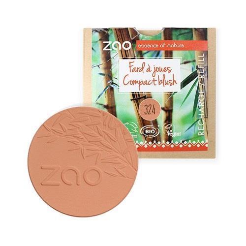 Bild von Zao - Nachfüllpackung - Refill - Compact Blush - Nr. 324 / Brick Red - 9 g