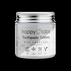 Bild von Happy Tabs - Zahnpastatabletten - Innovative Zahnpasta - Pfefferminzkohle (Fluoridfrei) - ca. 80 Kautabletten