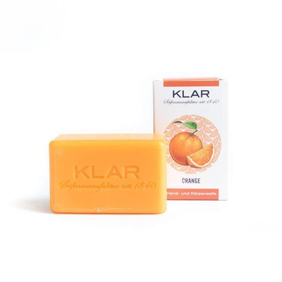 Bild von Klar - Orangenseife - Vegan - Palmölfrei - 100 g