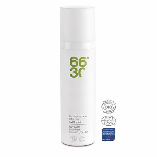 Bild von 66°30 - Cycle Jour Gel Visage Hydratant Ultra frais - Feuchtigkeitsgel mit Hyaluronsäure - 75 ml