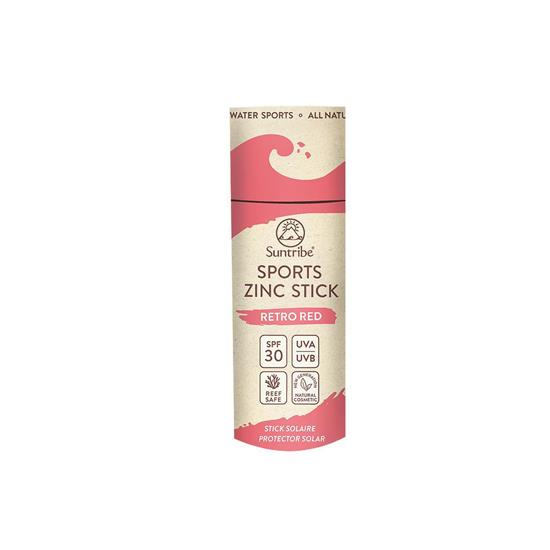 Bild von Suntribe - Sport Zinc Stick - Zinksonnencreme SPF 30 - Retro Red - 30 g