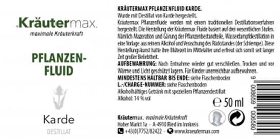 Bild von Kräutermax - Pflanzen-Fluid - Karde - 50 ml