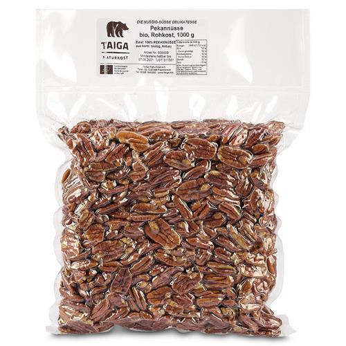 Bild von Taiga Naturkost - Pekannüsse - Bio - Rohkost-Qualität - 1000 g