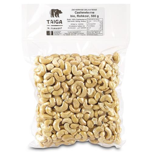 Bild von Taiga Naturkost - Cashew-Kerne - Bio - Rohkost-Qualität - 500 g