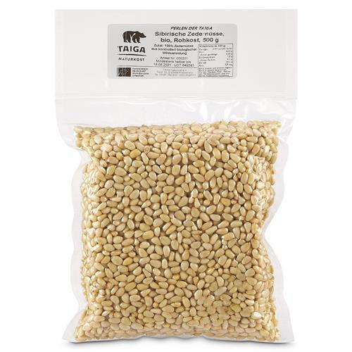 Bild von Taiga Naturkost - Sibirische Zedernüsse - Bio - Rohkost-Qualität - 500 g