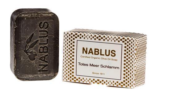 Bild von Nablus Soap - Natürliche Olivenölseife - Mit Totes Meer Schlamm - Handgemacht und Palmölfrei - 100 g