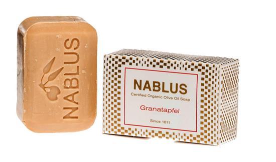 Bild von Nablus Soap - Natürliche Olivenölseife - Mit Granatapfelöl - Handgemacht und Palmölfrei - 100 g