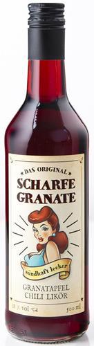 Bild von Scharfe Granate - Das Original - Granatapfel-Chili-Likör - Mit 18% Alkohol - 500 ml