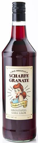 Bild von Scharfe Granate - Das Original - Granatapfel-Chili-Likör - Mit 18% Alkohol - 1000 ml