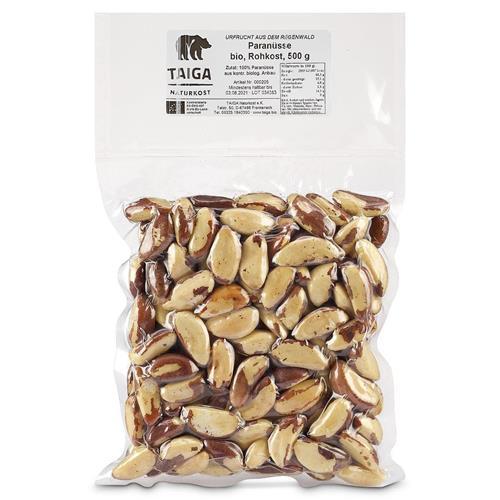 Bild von Taiga Naturkost - Paranüsse - Bio - Rohkost-Qualität - 500 g