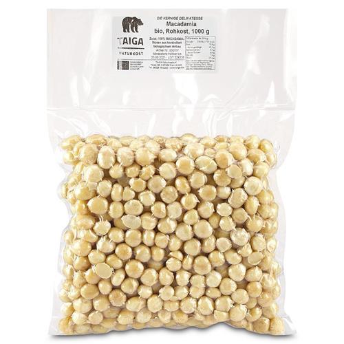 Bild von Taiga Naturkost - Macadamia - Bio - Rohkost-Qualität - 1000 g