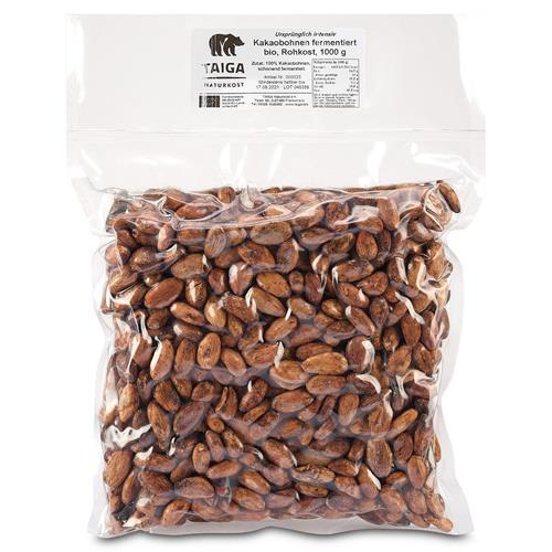 Bild von Taiga Naturkost - Kakaobohnen - Bio - Rohkost-Qualität - 1000 g