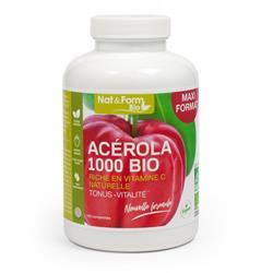 Bild von Nat & Form - Bio Acerola 1000 - 30 Kautabletten