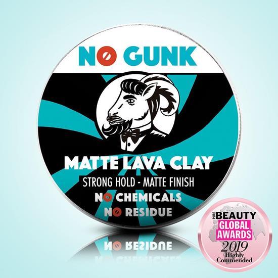 Bild von NO GUNK - Matte Lava Clay - Natürliches Haarwachs/Haarpaste - Starker Halt - Ohne Parfüm - 50 g