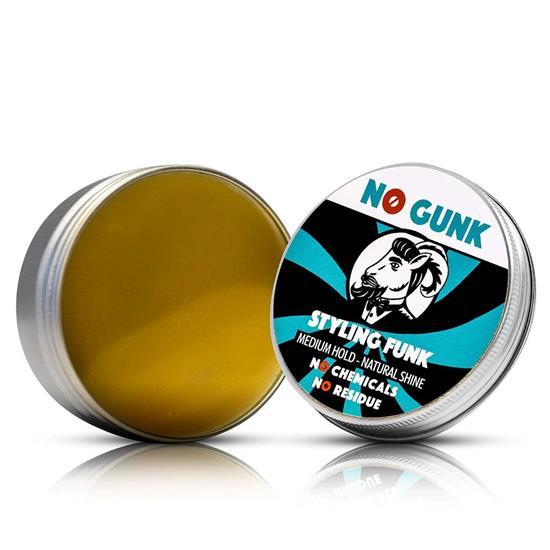 Bild von NO GUNK - Styling Funk - Natürliches Haarwachs/Haarpomade - Für Haare & Bart - Mittlerer Halt - 50 g