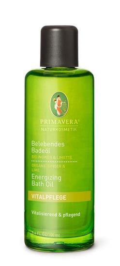 Bild von Primavera® - Belebendes Badeöl Bio Ingwer & Limette - 100 ml