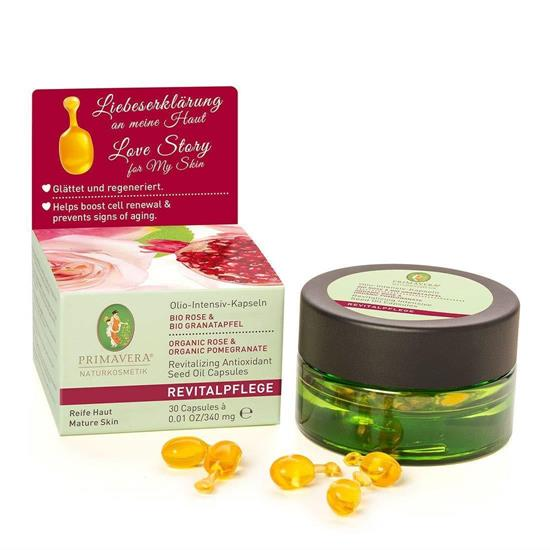 Bild von Primavera - Revitalpflege - Olio-Intensiv-Kapseln Rose Granatapfel - Hautpflege-Öl - 30 Stück