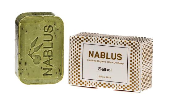 Bild von Nablus Soap - Natürliche Olivenölseife - Mit Salbei - Handgemacht und Palmölfrei - 100 g