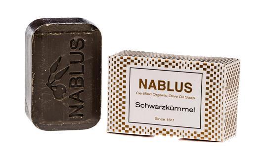 Bild von Nablus Soap - Natürliche Olivenölseife - Mit Schwarzkümmel - Handgemacht und Palmölfrei - 100 g