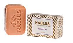 Bild von Nablus Soap - Natürliche Olivenölseife - Mit Lavendel - Handgemacht und Palmölfrei - 100 g
