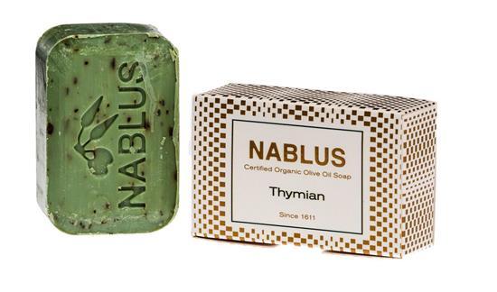 Bild von Nablus Soap - Natürliche Olivenölseife - Mit Thymian - Handgemacht und Palmölfrei - 100 g