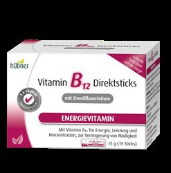 Bild von Hübner - Vitamin B12 Direktsticks mit Eiweißbausteinen - 15 Sticks