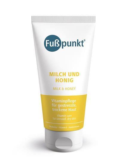 Bild von Fußpunkt - Milch und Honig - Fußcreme mit Hyaluron und Urea - 150 ml