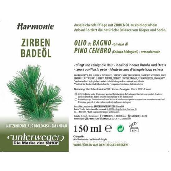 Bild von Unterweger - Badeöl Zirbe - 150 ml