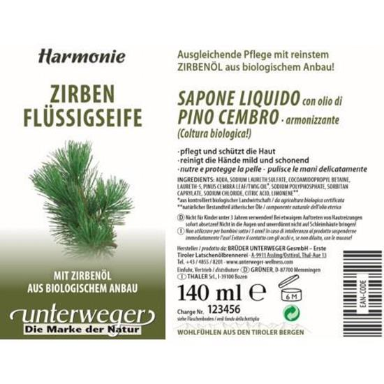 Bild von Unterweger - Zirben Flüssigseife - 140 ml